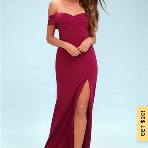 Song of love magenta off the shoulder maxi dress